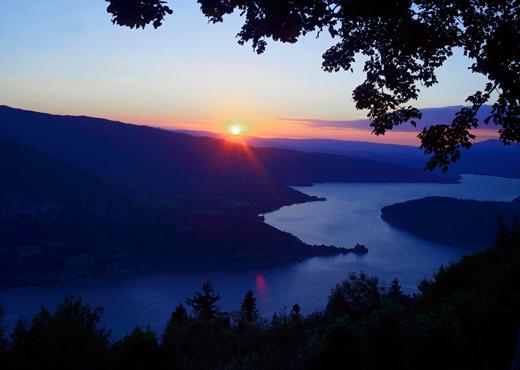 Coucher de soleil au Col de la Forclaz
