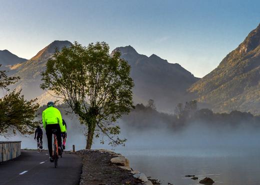 Aménagement cyclable au Bout-du-Lac