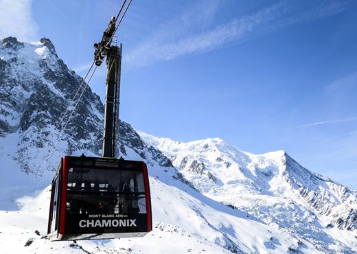 Le téléphérique de l'Aiguille du Midi