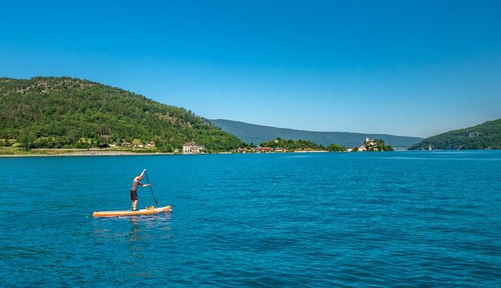 Paddle sur le lac d'Annecy