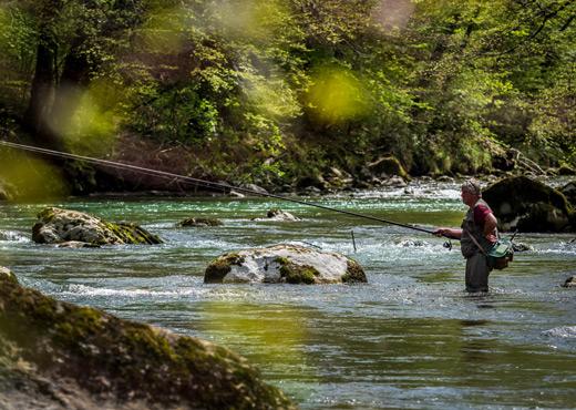 Pêche dans le Chéran